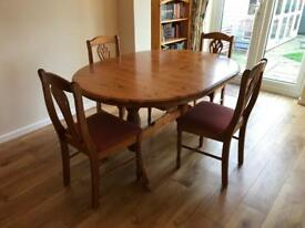 Corndell Harvest Dining Table & Four Chairs