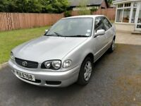 Toyota Corolla 1.4 VVTi Petrol, silver manual saloon, well looked after. DERRY