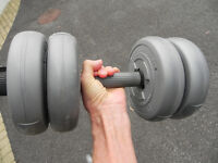Pair of DP Orbatron dumbbells with eight 2kg weights