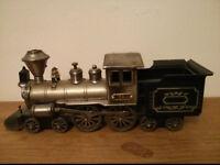 Vintage iron plastic locomotive figure collectible toy 1864 locomotive model replica