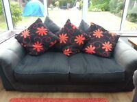 SCS lovely comfortable 3 seater and 2 seater sofa. Red and grey material