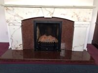 Marble and granite fireplace for sale