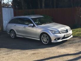 2008 58 Mercedes C Class C200 CDi Amg Sport Diesel Auto Estate With SAT NAV & FULL LEATHER +++