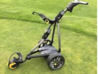 POWAKADDY FW7S LITHIUM GOLF TROLLEY 11 MONTHS OLD IMMACULATE CONDITION WITH EXTRAS