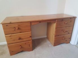 Price Greatly Reduced. Used Pine Dressing Table. Buyer to collect