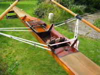 Vintage single rowing scull.