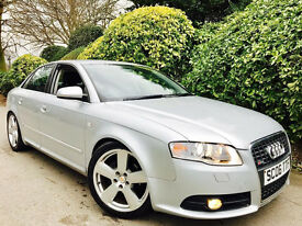 **1 OWNER!+XENONS** AUDI A4 1.9 TDI SLINE + FULL AUDI HSTRY + 1YR MOT + AC/ALLOYS + VERY CLEAN CAR
