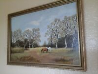 Pretty framed oil painting
