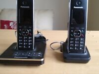 Twin Panasonic Cordless Phones