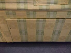 Single divan bed with orthopaedic mattress