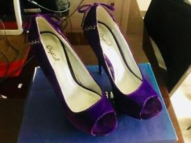 Purple High Heels
