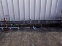 4 metre long bicycle rack x2 never used