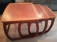 Parker Knoll Solid Teak Nest of Tables