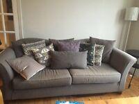 Multiyork large dark grey fabric sofa in great condition - collection from Twickenham