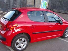 Peugeot 207 5 Door Hatcback 1.4 Petrol, 5 peed manual