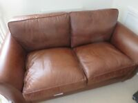 Laura Ashlee - Antiqued Leather 2 seater Sofa