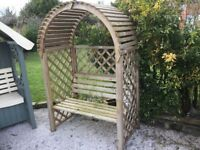 Garden Arbour. Ex-display. Ready Built. Tanalised