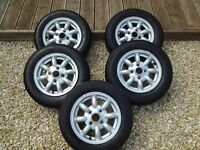 classic mini 12 inch alloys with near new tyres