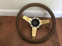 Motor lita leather steering wheel 15.5 inches