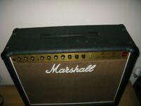 "Marshall Fifty Split Channel Reverb Model 5212 2x12"" guitar amplifier"