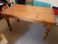 Dining Table 6 Seater Solid Pine COLLECTION ONLY small scuff on top. £50 ONO