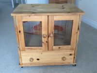 Custom Made Pine TV Cabinet