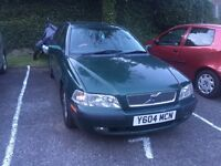 Volvo s40 2litres turbo. New tires new exhaust nice good driving car. Just 500 pounds 07455182356