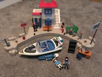 Playmobil Police Harbour with Speedboat 5128