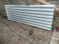 One new, unused fibre cement roofing panels 3m x 1m
