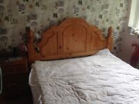 Super king size pine bed