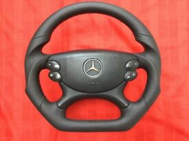MERCEDES E CLS CLK SL CLASS W129 W209 W211 LIFT W219 W230 PADDLE NEW CUSTOM MADE STEERING WHEEL
