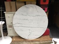Round marble tulip table 120cm