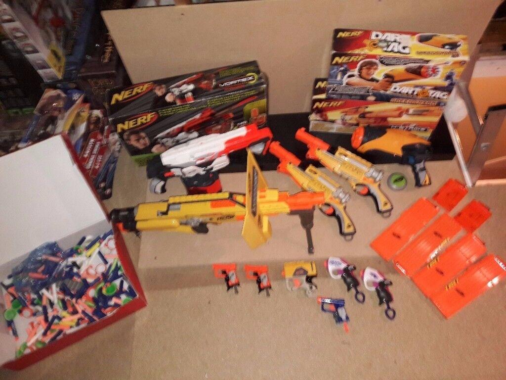 Large Nerf Guns Bundle - 11 Guns & loads of bullets