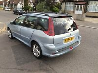 2004 54 Plate Peugeot 206 SW 2.0 HDi XSi 5dr (a/c) Diesel Low Mileage Car
