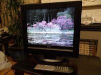"Luxor 16 "" Inch Tv 12volt Supply Excellent Condition Model 1596 Digital DVD Player Freevie Remote."