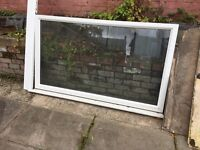 White UPVC Double Glazed Window Frame