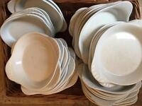 Eared plates - crockery job lot