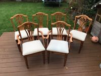 6 Ducal Pine Dining Chairs