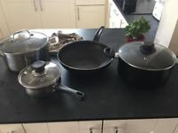 Selection of pots and pans