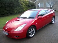TOYOTA CELICA 1-8 VVT-I SPORTS COUPE 6-SPEED 2003. 122k MILES WITH VAST SERVICE HISTORY, ANY TRIAL.