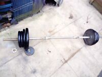 weights set 60 kg barbell bar 5 ft