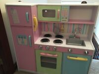 Children's deluxe wooden kitchen
