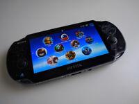 PS Vita (Oled) + 16GB Memory card + case + 53 GAMES!!!