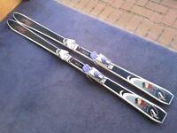 2 pairs rossignol sli,s both parabolics - mans 184, womans REK 170