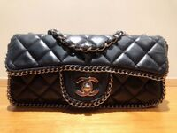 Chanel Handbag Timeless With Chain Around The Borders In A Fantastic Condition