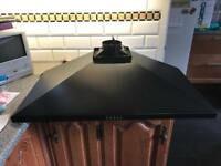 Chimney Cooker Hood Kitchen Extractor Fan in Black