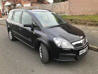 07 Plate Vauxhall Zafira Diesel MPV Automatic 7 Seater Full 12 Months MOT Low Mileage Bargain