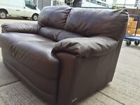 2 & 3 Seater Leather Sofas - Good condition