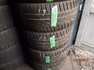 25540R19 SET OF 4 USED PIRELLI WINTER TIRES ON ALLY RIMS