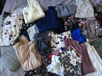 Bundle of woman's clothes tops, dresses size 12